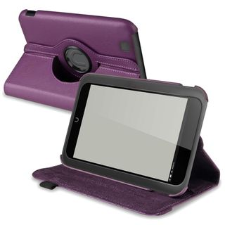 BasAcc Purple Leather Swivel Case for  Nook HD