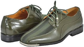 Expressions 4925 Olive Mens Dress Shoes Shoes