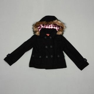 Dollhouse Big Girls Charcoal Wool Faux fur Peacoat FINAL SALE