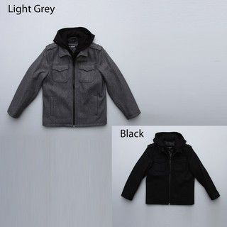 Black Rivet Big Boys Wool Blend Hooded Coat FINAL SALE