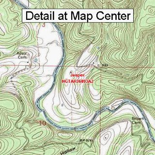 USGS Topographic Quadrangle Map   Jasper, Arkansas (Folded