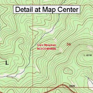 USGS Topographic Quadrangle Map   Gore Mountain, Colorado