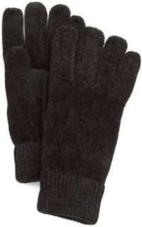 Isotoner Womens Solid Rayon Chenille Glove With Suede