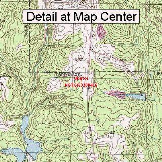 USGS Topographic Quadrangle Map   Upatoi, Georgia (Folded