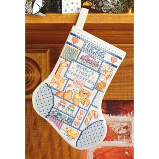 My 1st Christmas (Boy) Stocking Counted Cross Stitch Kit 10 Long 14