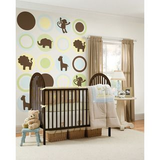 WallPops Brown Jungle Silhouettes Bundle Vinyl Wall Art