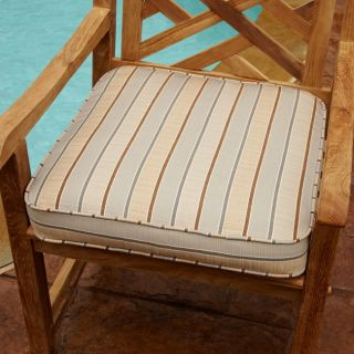 Clara Tan/ Grey 19 inch Square Outdoor Sunbrella Chair Cushion