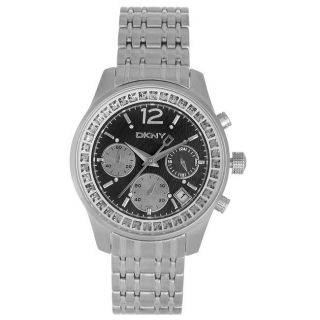 DKNY Unisex Chronograph Black Dial Stainless Steel Case Watch