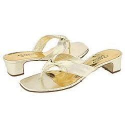 Franco Sarto Plush Platinum Viper Sandals   Size 5