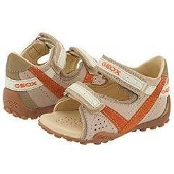 Geox Kids Baby S.Buggy Boy (Infant/Toddler) Beige/Orange Sandals