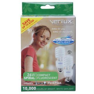 Verilux 26 watt Natural Spectrum Compact Fluorescent Light Bulb (Pack