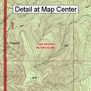 USGS Topographic Quadrangle Map   Cave Junction, Oregon