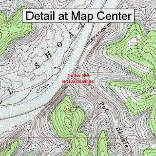 USGS Topographic Quadrangle Map   Cotter NW, Arkansas