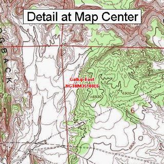 USGS Topographic Quadrangle Map   Gallup East, New Mexico