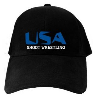 Caps Black Usa Shoot Wrestling  Martial Arts Clothing