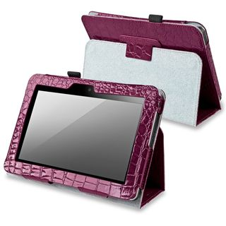 BasAcc Purple Leather Case with Stand for  Kindle Fire 7 inch