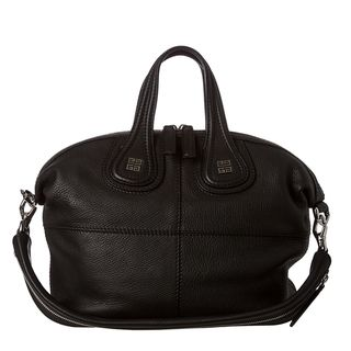 Givenchy Nightingale Small Black Leather Satchel