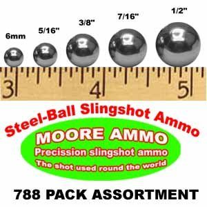 752 piece Steel Ball slingshot ammo assortment Sports