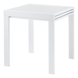70 cm extensible Julie   Blanc   Table repas carrée extensible 70