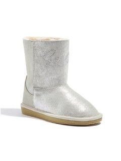 GUESS Kids Girls Big Girl Hanover Boots   Silver Sparkle Shoes