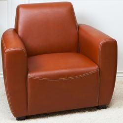 Dallas British Tan Bonded Leather Club Chair