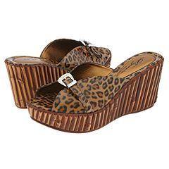 Dezario Yvette Tiger Patent Sandals