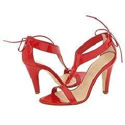 Christin Michaels Sara Red Patent Sandals   Size 9