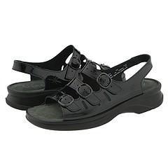 Clarks Sunbeat Black Patent Leather Sandals