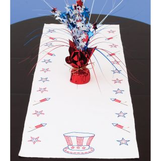 Stamped Table Runner/Scarf 15X42 Independence Day Today $7.99