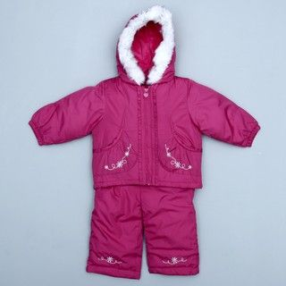London Fog Girls Faux Fur Hooded Snowsuit FINAL SALE