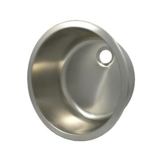 DeNovo Round Brushed Stainless Steel Vessel Bathroom Sink