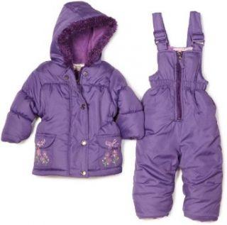 Pink Platinum Baby Girls Infant Embriodered Snowsuit