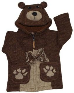Kyber Brown Bear Wool Sweater  Medium Clothing