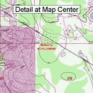 USGS Topographic Quadrangle Map   Mulberry, Florida
