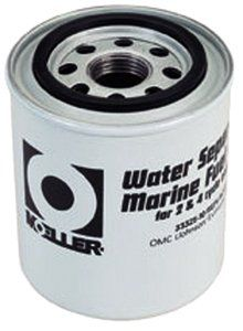 Moeller Water Separating Fuel Filter (Short Water, Mercury