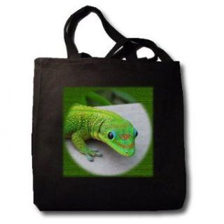 Gecko Cameo   Black Tote Bag 14w X 14h X 3d Clothing