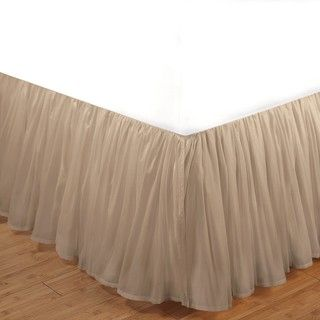 Linen Cotton Voile 15 inch King size Bedskirt