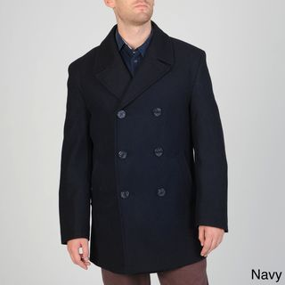 Cianni Cellini Mens Wool blend Double breasted Peacoat