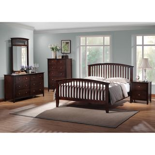 Metropolitan King 5 piece Wooden Modern Bedroom Set