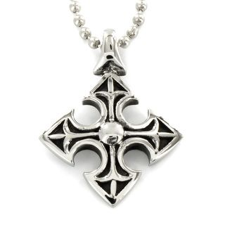 Stainless Steel Medieval Cross Necklace