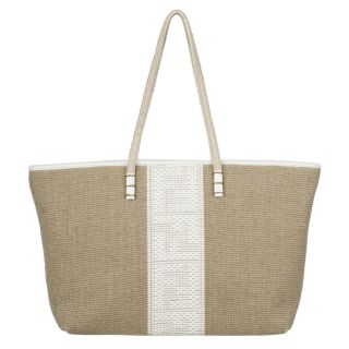 Fendi 8BH185 Linen Roll Tote Bag