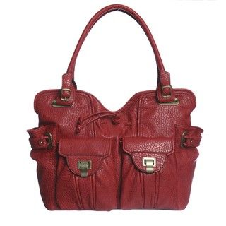 Jessica Simpson Metro Ruby Red Tote Bag