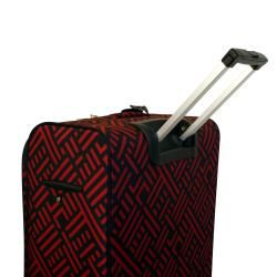 Jenni Chan Black and Red 28 inch Wheeled Upright Luggage