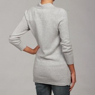 Knitted Dove Womens Grey Heather Cardigan FINAL SALE
