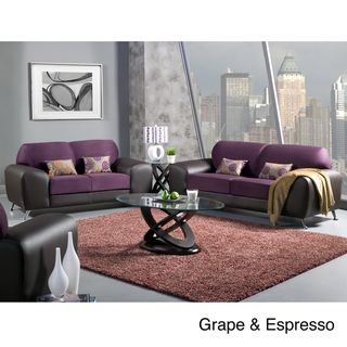Mara Clara 2 Piece Contemporary Sofa/ Loveseat Set