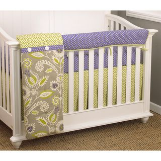 Cotton Tale Periwinkle 4 piece Crib Bedding Set