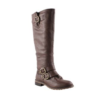 Elegant by Beston Womens Dillian 9 Brown Riding Boots