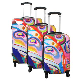Orbit Dynamics Dejuno 3 piece Lightweight Hardside Spinner Luggage Set