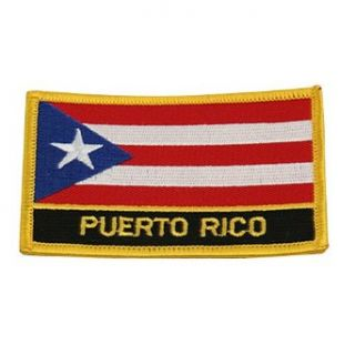 Rasta Flag Patch Puerto Rico W03S64C Clothing
