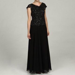 Laxmi Womens Black/ Merc Cowl Neck Dress